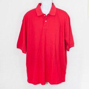 Navy Blue Basic Editions Men/'s Big /& Tall Pique Polo Shirt 4XL